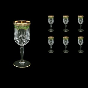 Opera C3 OEGG Wine Glasses 160ml 6pcs in Flora´s Empire Golden Green Decor (24-653)