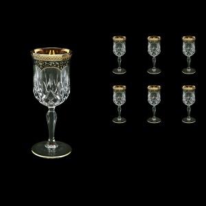 Opera C3 OEGB Wine Glasses 160ml 6pcs in Flora´s Empire Golden Black Decor (26-653)