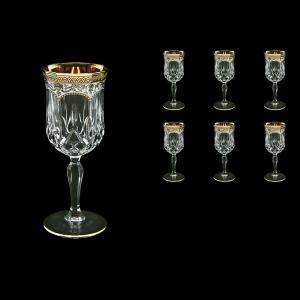 Opera C2 OEGW Wine Glasses 230ml 6pcs in Flora´s Empire Golden White Decor (21-654)