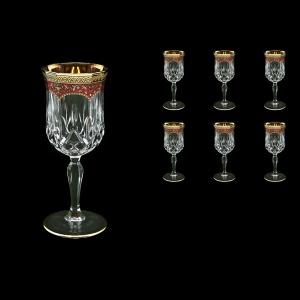 Opera C2 OEGR Wine Glasses 230ml 6pcs in Flora´s Empire Golden Red Decor (22-654)