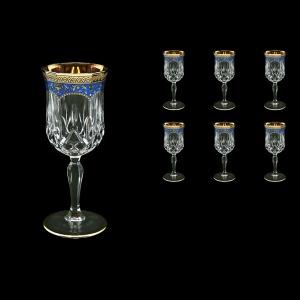 Opera C2 OEGC Wine Glasses 230ml 6pcs in Flora´s Empire Golden Blue Decor (23-654)