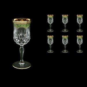 Opera C2 OEGG Wine Glasses 230ml 6pcs in Flora´s Empire Golden Green Decor (24-654)