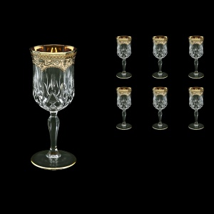 Opera C2 OEGI Wine Glasses 230ml 6pcs in Flora´s Empire Golden Ivory Decor (25-654)