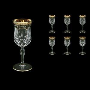 Opera C2 OEGB Wine Glasses 230ml 6pcs in Flora´s Empire Golden Black Decor (26-654)