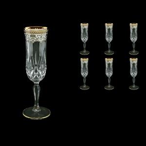 Opera CFL OEGW Champagne Flutes 130ml 6pcs in Flora´s Empire Golden White Decor (21-655)