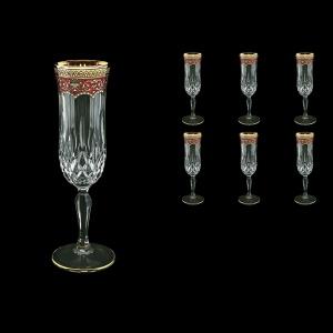 Opera CFL OEGR Champagne Flutes 130ml 6pcs in Flora´s Empire Golden Red Decor (22-655)