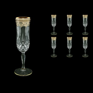 Opera CFL OEGI Champagne Flutes 130ml 6pcs in Flora´s Empire Golden Ivory Decor (25-655)