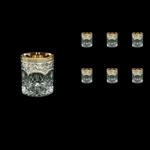Opera B3 OEGW Whisky Glasses 210ml 6pcs in Flora´s Empire Golden White Decor (21-656)