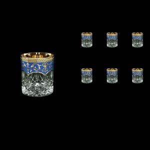 Opera B3 OEGC Whisky Glasses 210ml 6pcs in Flora´s Empire Golden Blue Decor (23-656)