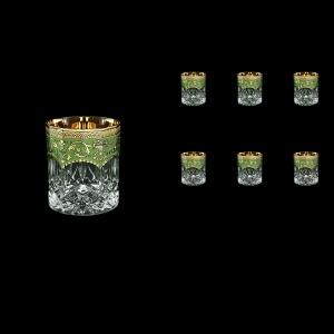 Opera B3 OEGG Whisky Glasses 210ml 6pcs in Flora´s Empire Golden Green Decor (24-656)