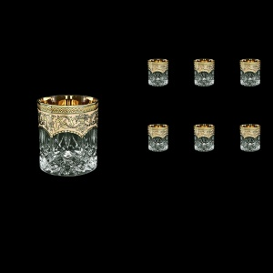 Opera B3 OEGI Whisky Glasses 210ml 6pcs in Flora´s Empire Golden Ivory Decor (25-656)