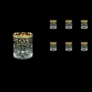 Opera B3 OEGB Whisky Glasses 210ml 6pcs in Flora´s Empire Golden Black Decor (26-656)