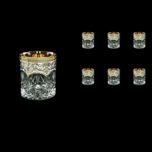 Opera B2 OEGW Whisky Glasses 300ml 6pcs in Flora´s Empire Golden White Decor (21-657)