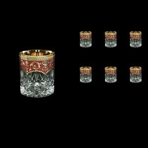 Opera B2 OEGR Whisky Glasses 300ml 6pcs in Flora´s Empire Golden Red Decor (22-657)