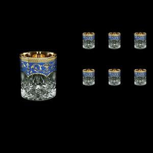 Opera B2 OEGC Whisky Glasses 300ml 6pcs in Flora´s Empire Golden Blue Decor (23-657)
