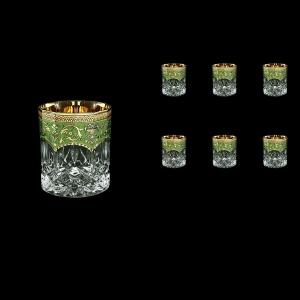 Opera B2 OEGG Whisky Glasses 300ml 6pcs in Flora´s Empire Golden Green Decor (24-657)
