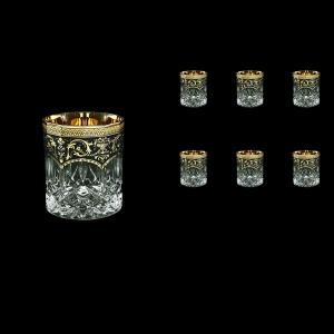 Opera B2 OEGB Whisky Glasses 300ml 6pcs in Flora´s Empire Golden Black Decor (26-657)