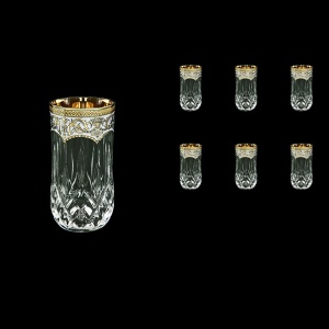 Opera B9 OEGW Water Glasses 240ml 6pcs in Flora´s Empire Golden White Decor (21-658)