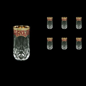 Opera B9 OEGR Water Glasses 240ml 6pcs in Flora´s Empire Golden Red Decor (22-658)