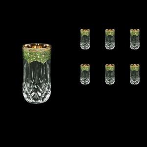 Opera B9 OEGG Water Glasses 240ml 6pcs in Flora´s Empire Golden Green Decor (24-658)