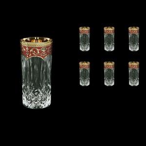 Opera B0 OEGR Water Glasses 350ml 6pcs in Flora´s Empire Golden Red Decor (22-659)