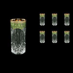 Opera B0 OEGG Water Glasses 350ml 6pcs in Flora´s Empire Golden Green Decor (24-659)