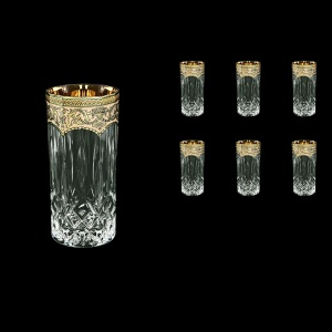 Opera B0 OEGI Water Glasses 350ml 6pcs in Flora´s Empire Golden Ivory Decor (25-659)