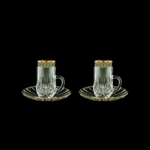 Opera ES OAGB Espresso 50ml 2pcs in Antique Golden Black Decor (57-502/2/b)
