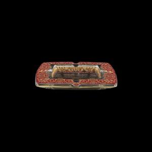 Torcello PO TELR Ashtray 15x15cm 1pc in Flora´s Empire Golden Red Light Decor (22-706/L)