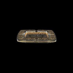 Torcello PO TELB Ashtray 15x15cm 1pc in Flora´s Empire Golden Black Light Decor (26-706/L)