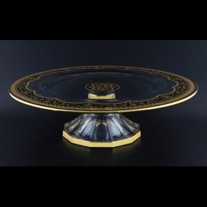 Rialto CPA RELB Cake Plate w/F d35cm 1pc in Flora´s Empire Golden Black Light (26-727/L)