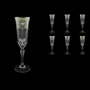 Adagio CFL AESK Champagne Flutes 180ml 6pcs in Flora´s Empire Pl. Crystal L. (20-1/594/L)