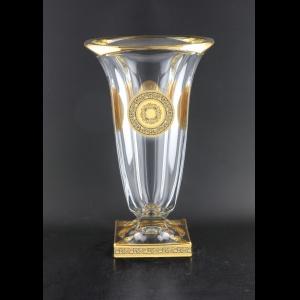 Bohemia Magma VV MDGB CH Vase 33cm 1pc in Lilit&Lilit Golden Black Decor (37-206)