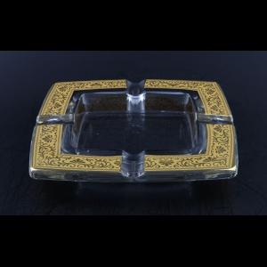 Torcello PO TNGC Ashtray 15x15cm 1pc in Romance Golden Classic Decor (33-671)