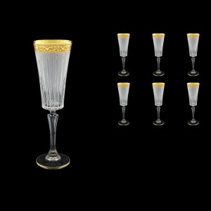 Timeless CFL TNGC S Champagne Fluetes 210ml 6pcs in Romance Golden Classic D.+S (33-131)