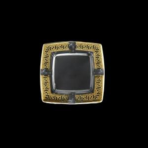 Torcello PO TAGB b Ashtray 15x15cm 1pc in Antique Golden Black Decor (57-671/b)