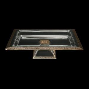 Torcello QTD TMGB Tray w/F 40x30cm 1pc in Lilit Golden Black Decor (31-672)