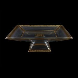 Ducale MOD DAGB b B Large Bowl w/F 35x35cm 1pc in Antique Golden Black Decor (57-681/b)