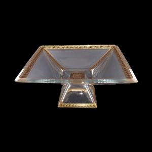 Ducale MVD DAGB b Large Bowl w/F 35x35cm 1pc in Antique Golden Black Decor (57-682/b)