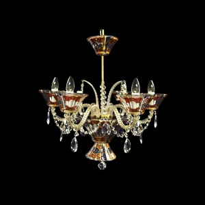 Chandelier Doge CH6 DELR RM 6arms 1pc in Flora´s Empire Golden Red Light (22-4017/6c/L)