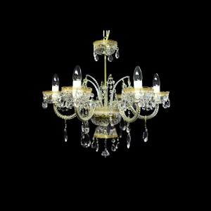 Chandelier Opera CH6 OPLW RM 6arms 1pc in Persa Golden White Light (71-4019/6c/L)