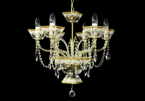 Chandelier Ducale CH6 DPLR RM 6arms 1pc in Persa Golden White Light (71-4021/6c/L)