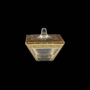Torcello DO TMGB Dose 11x11cm 1pc in Lilit Golden Black Decor (31-512)