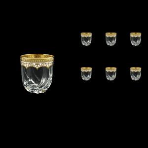 Trix B3 TEGW Whisky Glasses 290ml 6pcs in Flora´s Empire Golden White Decor (21-565)