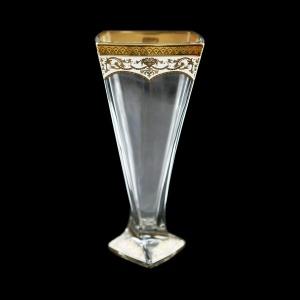 Bohemia Quadro VV QEGW Vase 330,1pc in Flora´s Empire Golden White Decor (21-382)