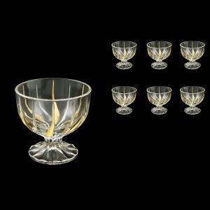 Trix MM TCG Small Bowl d10cm 6pcs in Clear&Gold (1250/6)
