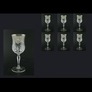 Opera C2 OESK Wine Glasses 230ml 6pcs in Flora´s Empire Pl. Crystal Light (20-1/654/L)