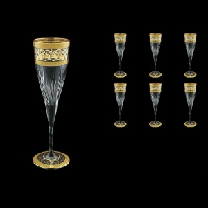 Fluente CFL FALK D Champagne Flutes 190ml 6pcs in Allegro Golden Light Decor+D (66-751/L)