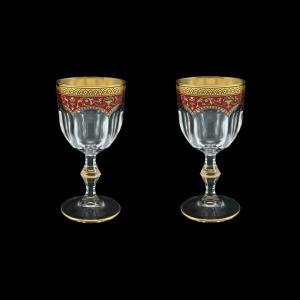 Provenza C3 PEGR Wine Glasses 170ml 2pcs in Flora´s Empire Golden Red Decor (22-522/2)