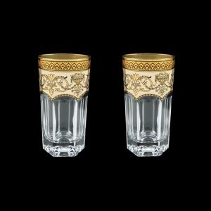 Provenza B0 PEGI Water Glasses 370ml 2pcs in Flora´s Empire Golden Ivory Decor (25-525/2)